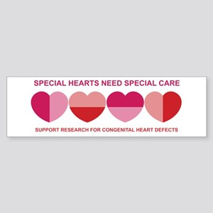 Special Hearts Bumper Sticker